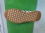 Чоловічі кросівки adidas lniki runner black замшеві, фото 5