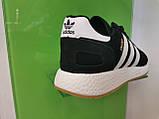 Чоловічі кросівки adidas lniki runner black замшеві, фото 3