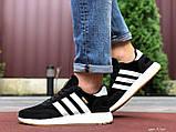 Чоловічі кросівки adidas lniki runner black замшеві, фото 7