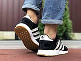 Чоловічі кросівки adidas lniki runner black замшеві, фото 6
