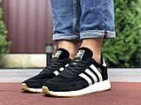 Чоловічі кросівки adidas lniki runner black замшеві, фото 8