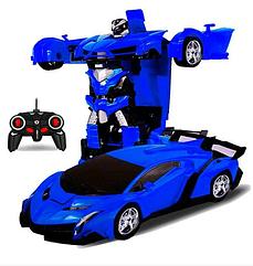 Радиоуправляемая машинка-трансформер Transforms Changeable Lamborghini 1 к 18 синяя