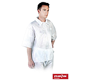 Короткий халат (толстовка) с короткими рукавами Reis (одноразовый медицинский) BFI