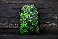 Мужской зеленый рюкзак вместительный Brew токсин черно-зеленый практичный рюкзак