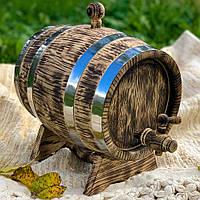 Бочка дубовая 1л. (под старину) для вина, коньяка OLD