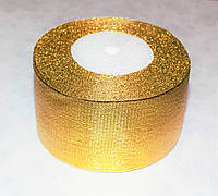 Лента парча золотая 5 см длина 23 м