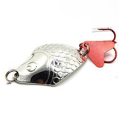 Колеблющаяся блесна Spinnex Keta 14г для ловли щуки цвет Серебро