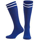Гетри футбол чоловічі CO-5607-DBl (бавовна, нейлон, р-р 40-45, темно-синій), фото 2