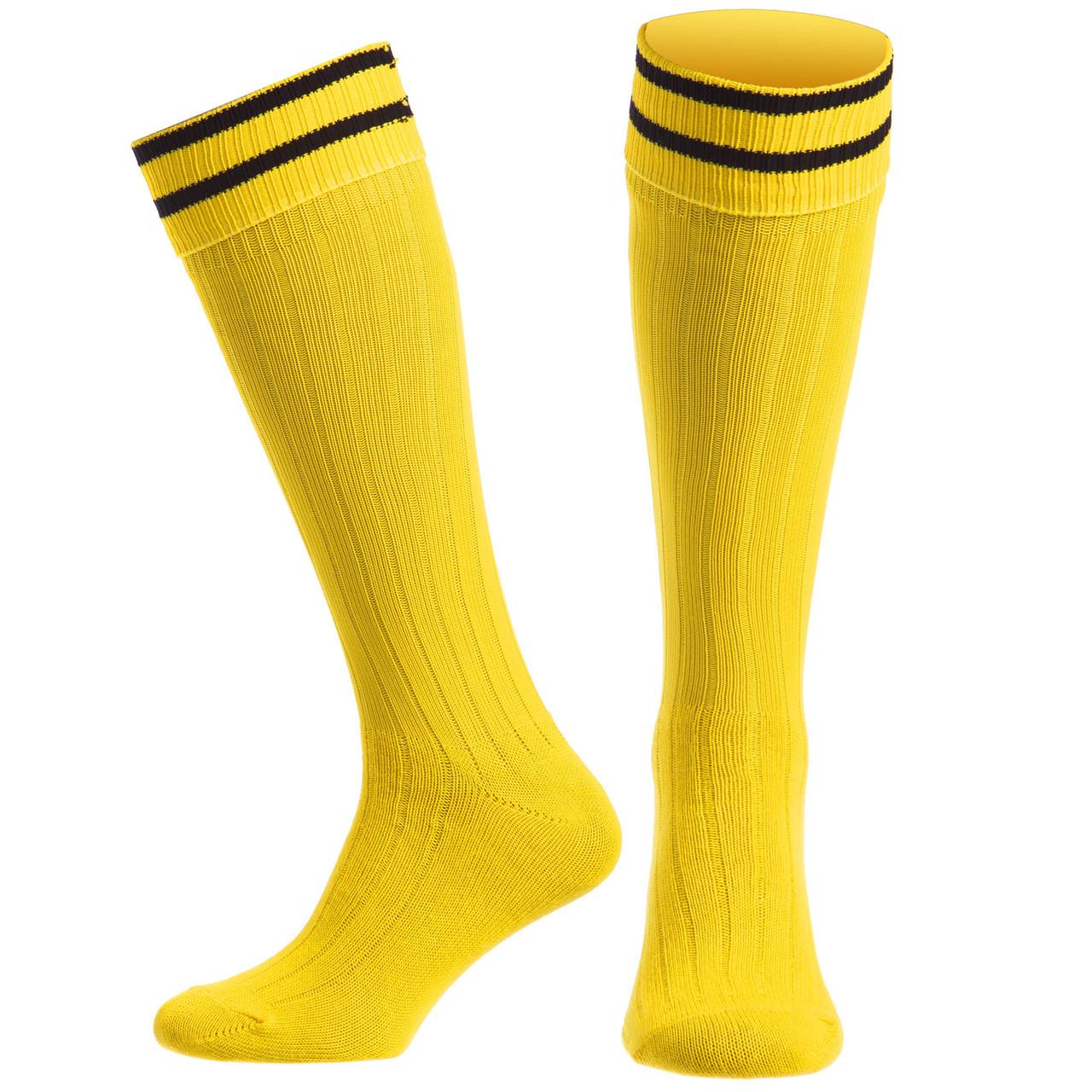 Гетры футбол мужские CO-5607-Y (хлопок, нейлон, р-р 40-45, жёлтый)