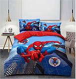 Комплект постельного белья детский  Спайдермен на красном полуторный размер Байка ( Фланель), фото 2