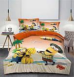 Комплект постельного белья детский  Спайдермен на красном полуторный размер Байка ( Фланель), фото 4