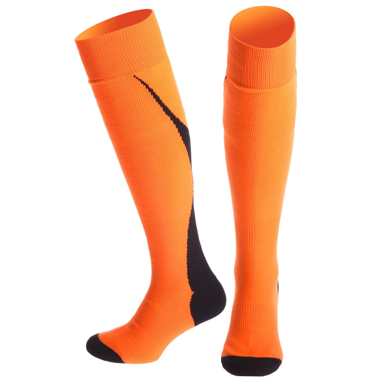 Гетри футбол чоловічі KS-04L (поліестер 86г, р-р 40-45, помаранчевий, чорний)