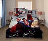 Комплект постельного белья детский Спайдермен полуторный размер Байка ( Фланель), фото 9