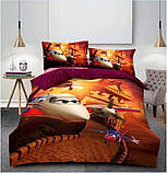 Комплект постельного белья детский Супермен полуторный размер Байка ( Фланель), фото 3