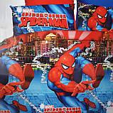 Комплект постельного белья детский Супермен полуторный размер Байка ( Фланель), фото 9