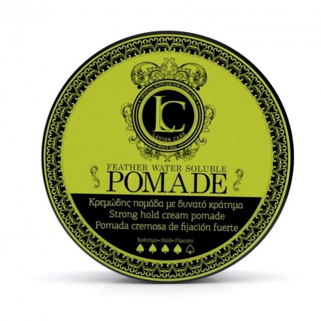 Lavish care pomade feather water strong hold cream - Помада для стайлинга сильной фиксации, 100 мл
