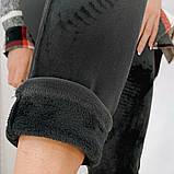 Женские спортивные штаны на шнуровке рубчик велюр на меху размер: lxl (m) ; xl2xl ( l) ; 2xl3xl ( xl), фото 3