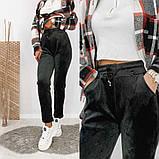 Женские спортивные штаны на шнуровке рубчик велюр на меху размер: lxl (m) ; xl2xl ( l) ; 2xl3xl ( xl), фото 4