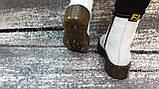 Женские демисезонные кожаные ботинки белого цвета в стиле Мартинс 36-40, фото 4