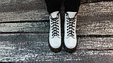 Женские демисезонные кожаные ботинки белого цвета в стиле Мартинс 36-40, фото 7