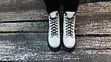 Жіночі демісезонні шкіряні черевики білого кольору в стилі Мартінс 36-40, фото 7