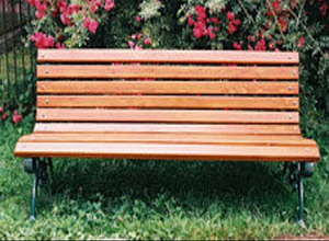 Деревянная скамейка ИГ Парковая 1800х520х740 мм для улицы черные чугунные ножки