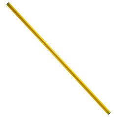 Палка гимнастическая тренировочная желтая 1м (штанга)