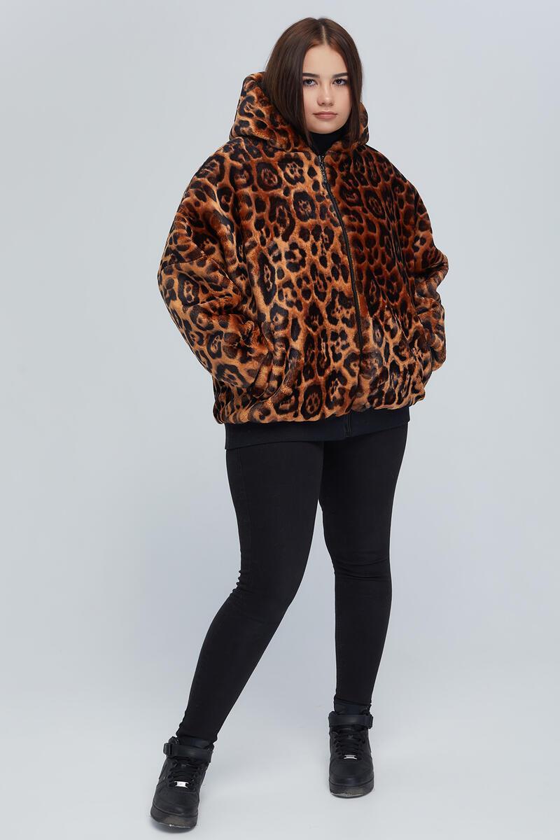 Двостороння жіноча куртка демі з підкладкою з еко-хутра великого розміру від 48 до 64