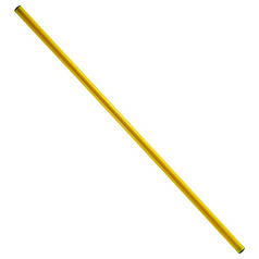 Палка гимнастическая тренировочная желтая 1.5м (штанга)
