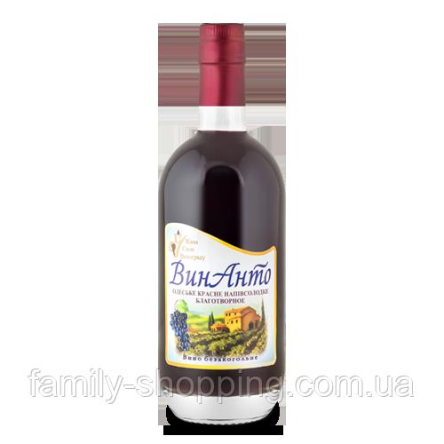 ВинАнто Экстракт безалкогольный Живая Сила Винограда (стекло), 500 мл