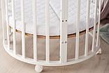 Детская кроватка овальная/ круглая трансформер 10 в 1 с матрасом, фото 3