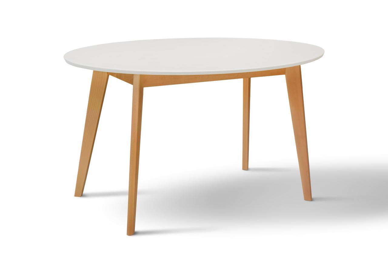 Стол обеденный Космо (белый/бук)