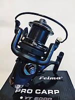 Карповая фидерная силовая катушка с байтраннером Feima Pro Carp YT-7000, 7+1bb черная