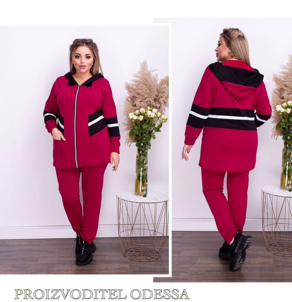 Осенний женский спортивный костюм качество 100% 48-50 52-54-56-58