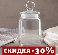 """Банка для сыпучих продуктов 1 л """"Kitchen""""Pasabache."""