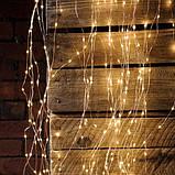 Гирлянда конский хвост золото, 2 м, 200 Led, 10 нитей, от сети, фото 2