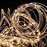 Гирлянда конский хвост золото, 2 м, 200 Led, 10 нитей, от сети, фото 3