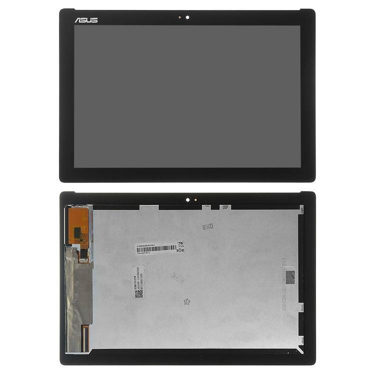 Дисплей (екран) для планшета Asus Z301MFL ZenPad 10 з сенсором (тачскрін) чорний з зеленим шлейфом