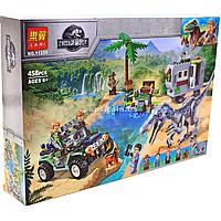 Конструктор LARI Jurassic World Парк Юрского периода Поединок с бариониксом: охота за сокровищами, 458 деталей, фото 1