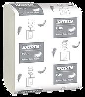 Туалетная бумага листовая KATRIN-89735 2 шаровая 200л целлюлоза Пол