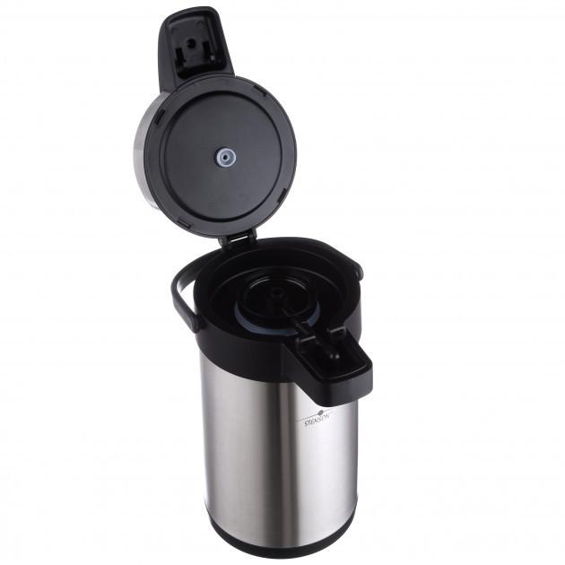 Термос вакуумный с помпой Stenson МT-0096 4 л