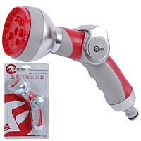Пистолет-распылитель для полива 7-ми функциональный (центральный, туман, душ, угловой, полный, конический, плоский.) INTERTOOL GE-0009