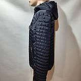 Чоловіча куртка весна/осінь, демісезонна на тонкому синтепоні куртка темно синя, фото 3