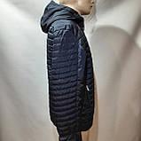 Чоловіча куртка весна/осінь, демісезонна на тонкому синтепоні куртка темно синя, фото 5