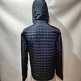 Чоловіча куртка весна/осінь, демісезонна на тонкому синтепоні куртка темно синя, фото 7