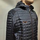 Чоловіча куртка весна/осінь, демісезонна на тонкому синтепоні куртка темно синя, фото 2