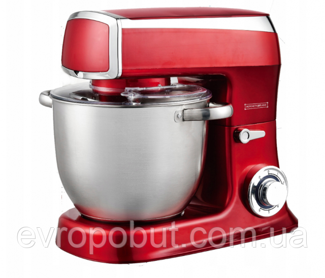 Кухонный комбайн тестомес Royalty Line RL-PKM- 2100.7 RED 2100 Вт (Красный)