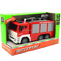 Машинка игровая автопром «Пожарная машина» (свет, звук), 29х10х14 см (7936AB), фото 2