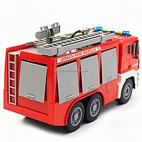 Машинка игровая автопром «Пожарная машина» (свет, звук), 29х10х14 см (7936AB), фото 4