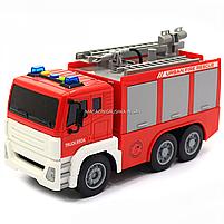 Машинка игровая автопром «Пожарная машина» (свет, звук), 29х10х14 см (7936AB), фото 5